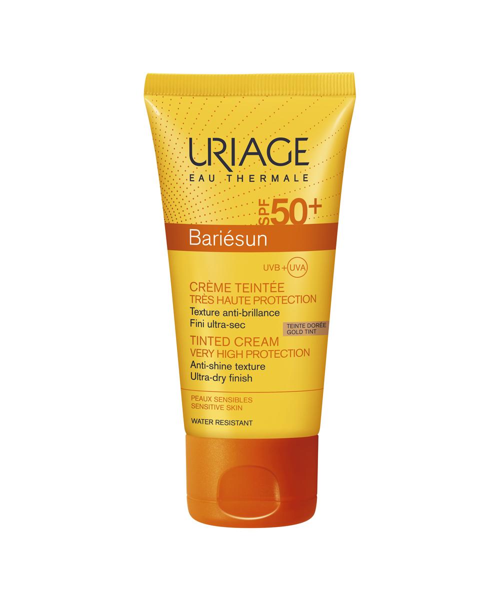 Protector solar con color resistente al agua Bariésun SPF 50+ Tinted Cream de Uriage.