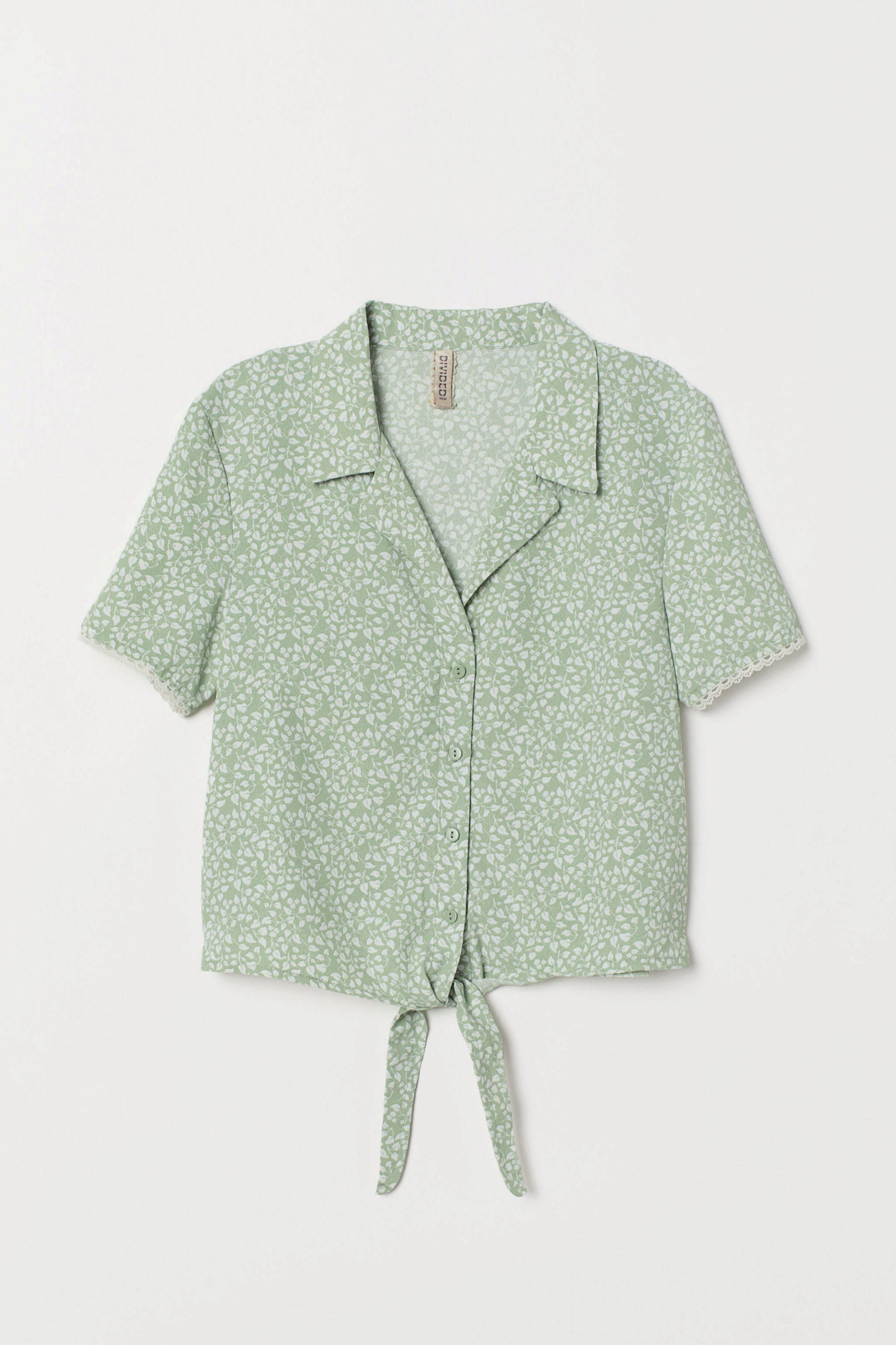 Blusa estampada de flores de H&M
