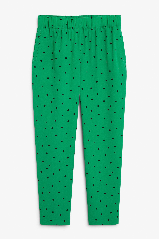 Pantalón estampado de topos de Monki