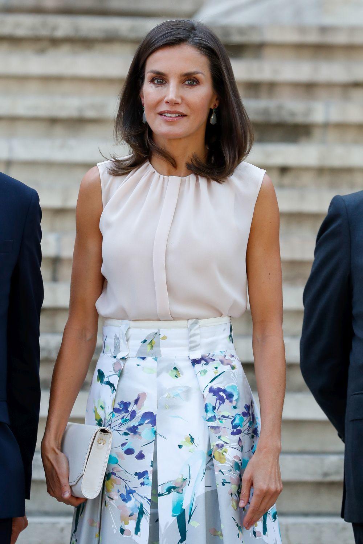 La reina Letizia en Madrid.