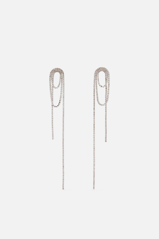 Pendientes XL de aplicaciones metálicas de Zara (12,95¤)