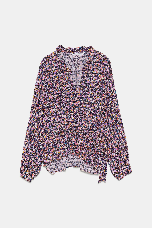 Blusa boho con estampado de flores de Zara