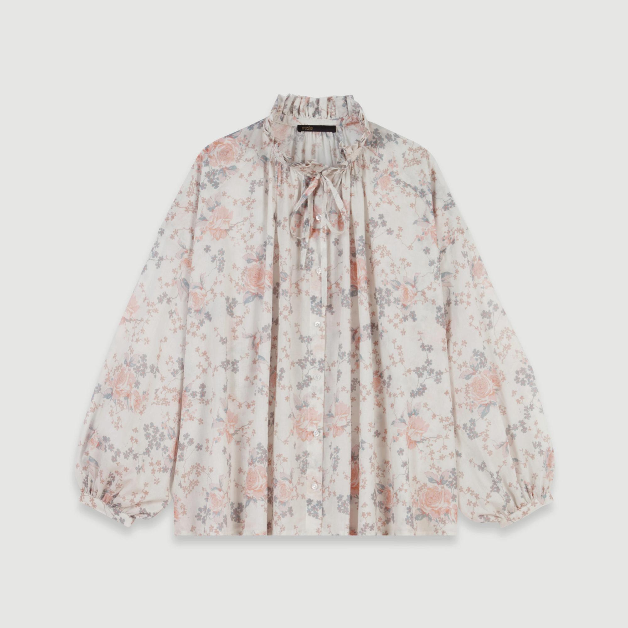 Blusa efecto vintage con print de flores de Maje