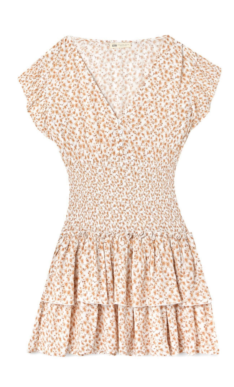 Mini vestido de flores de Stradivarius