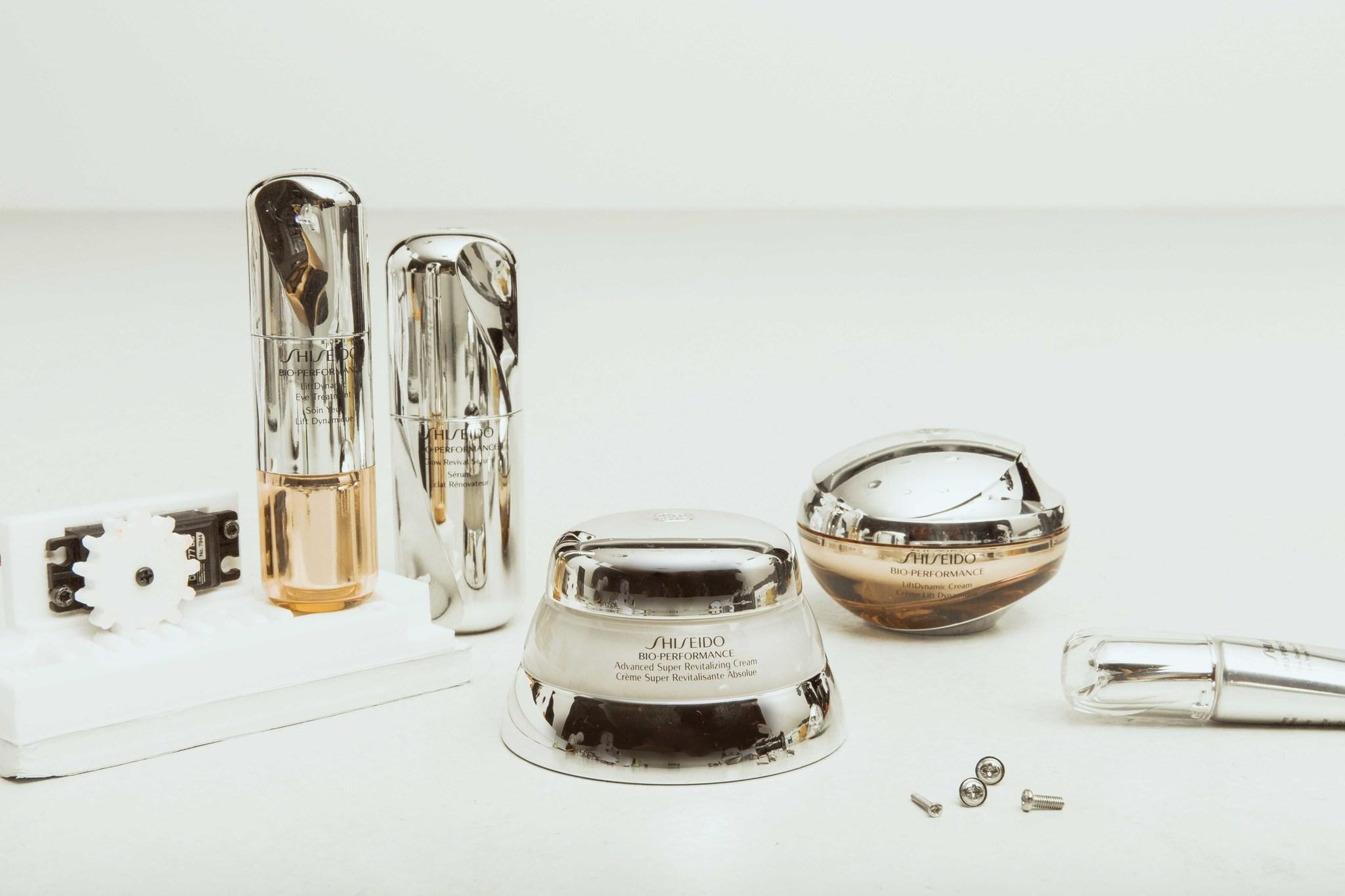 Los productos de la línea Bio-Performance de Shiseido.