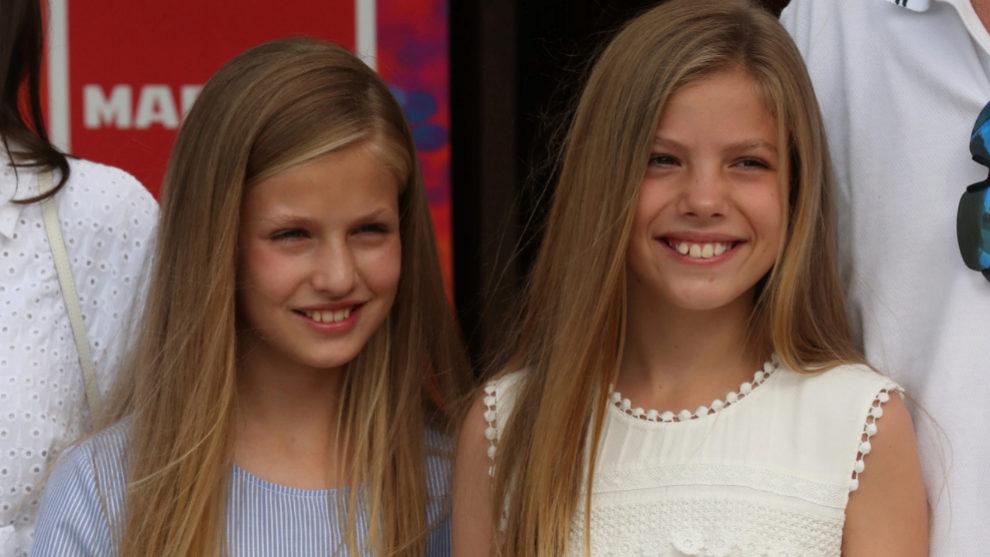 La princesa Leonor y la infanta Sofia empiezan sus vacaciones en...