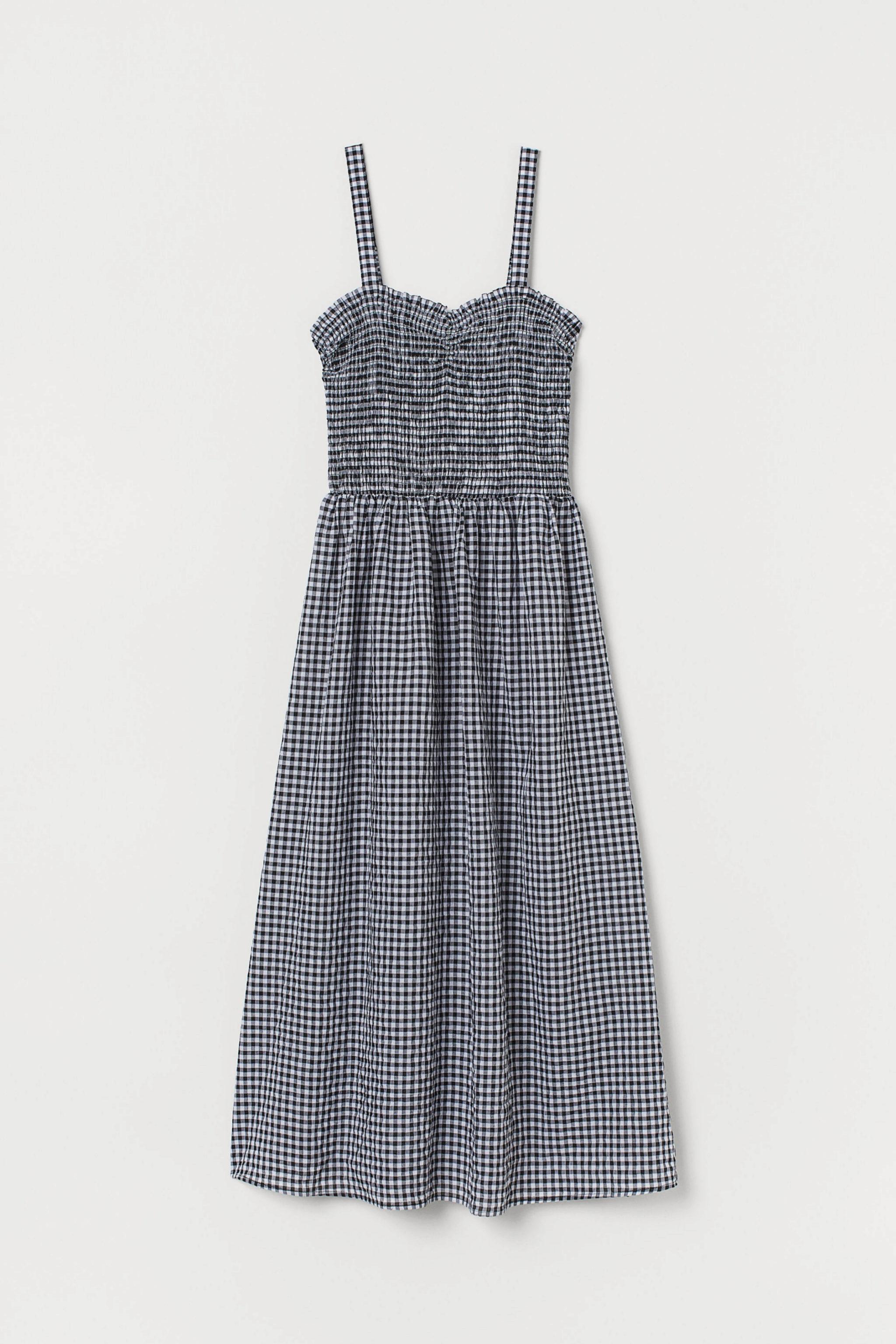 Vestido XL con estampado vichy de H&M