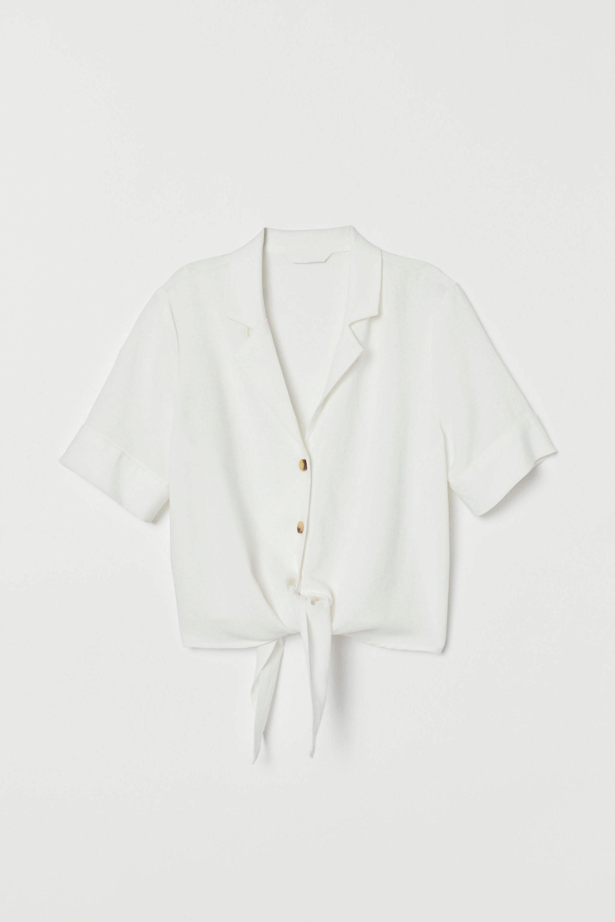 Blusa con nudo de H&M