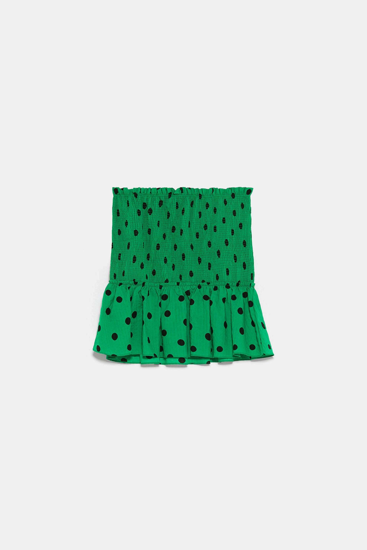 Falda mini de lunares de Zara