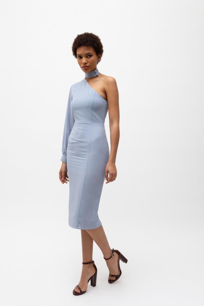 Vestido asimétrico, de Bimani 13 (84,50 euros).