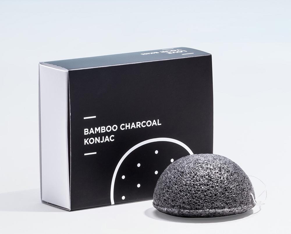 Esponja Konjac de Carbón Activado de Miin Cosmetics.