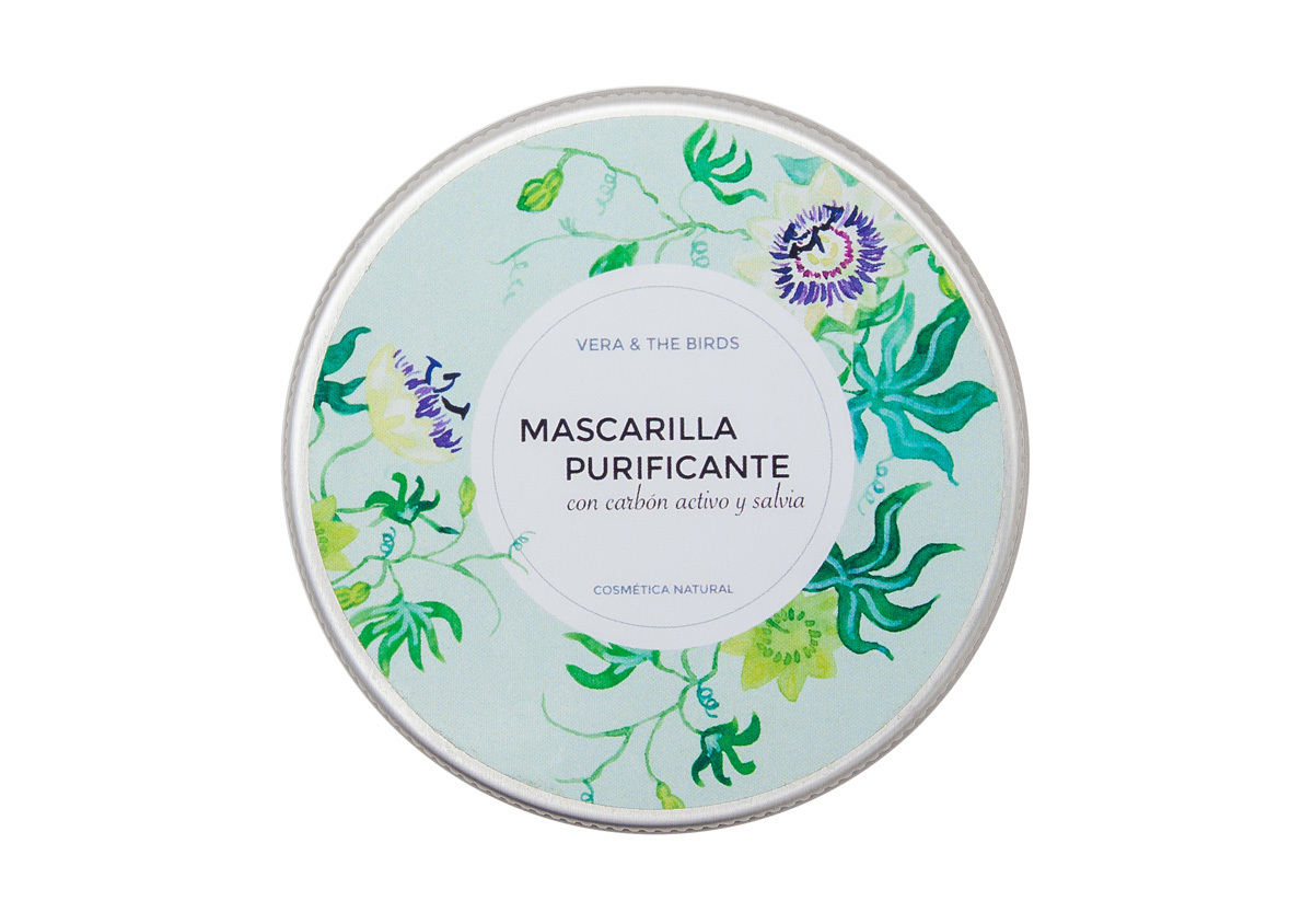Mascarilla purificante con carbón activo y salvia de Vera & The...