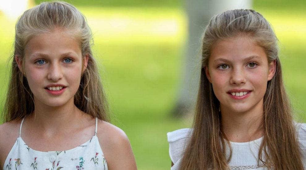 La princesa Leonor y la infanta Sofía.