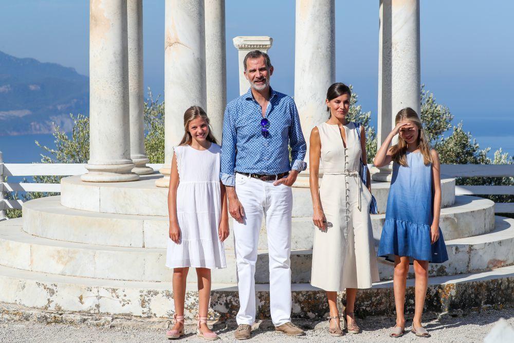 La Familia Real en Palma de Mallorca.