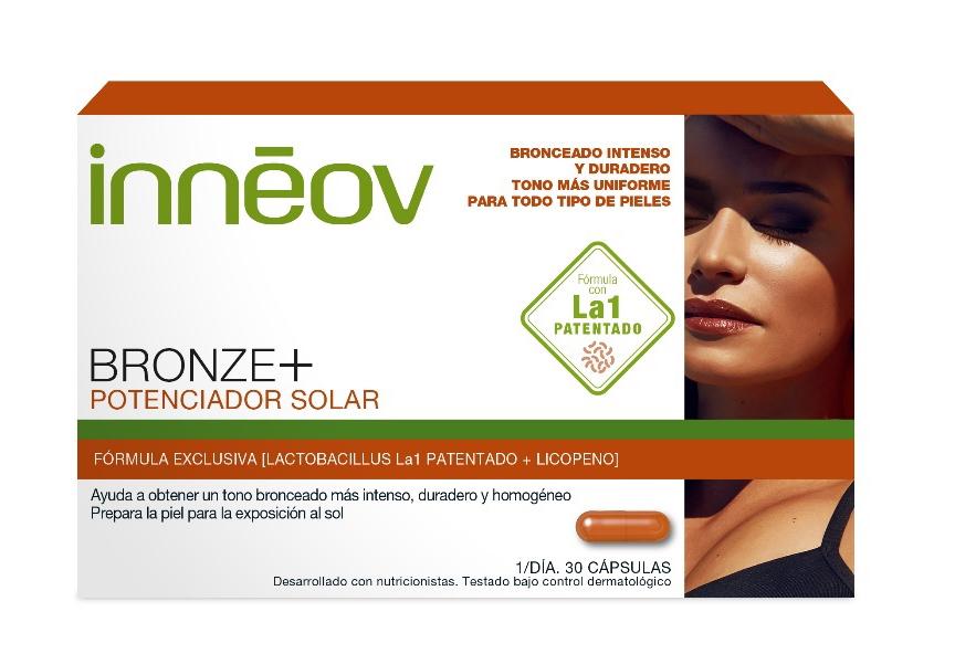 Suplementos solares Bronze +, Potenciador Solar de Innéov.