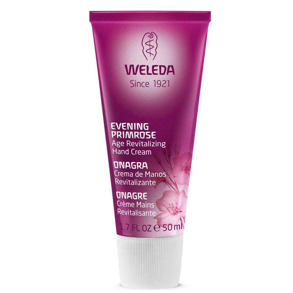 Crema de manos revitalizante con onagra de Weleda.