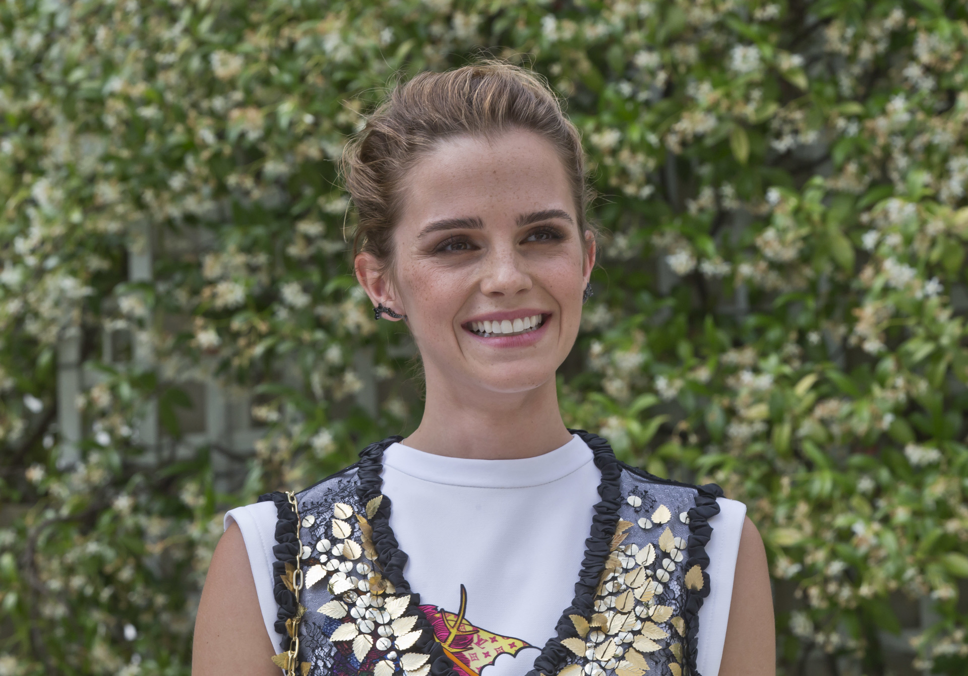 Emma Watson en la fashion week de Paris el pasado junio.