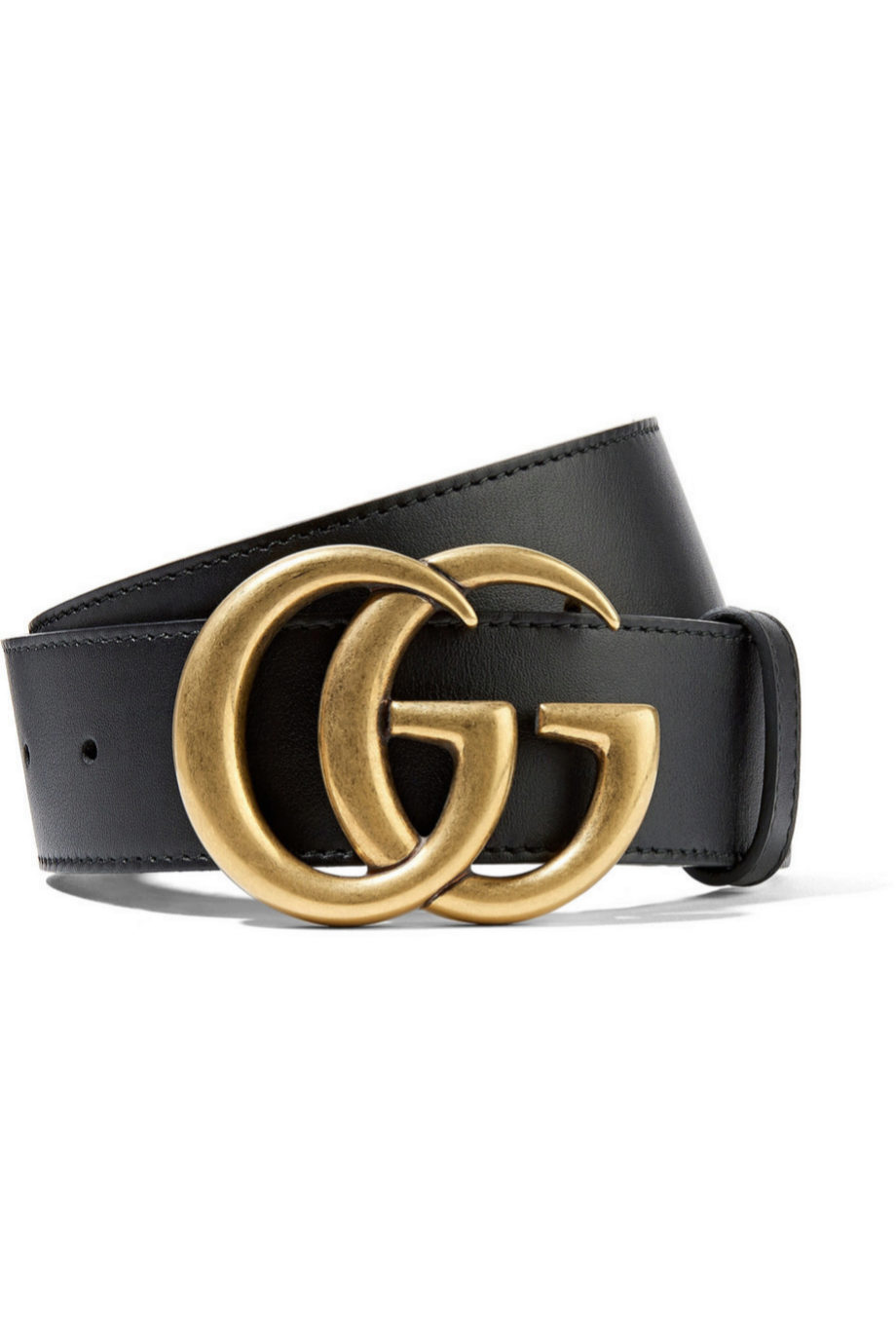 Cinturón de piel en color negro de Gucci para Net a Porter (360¤)
