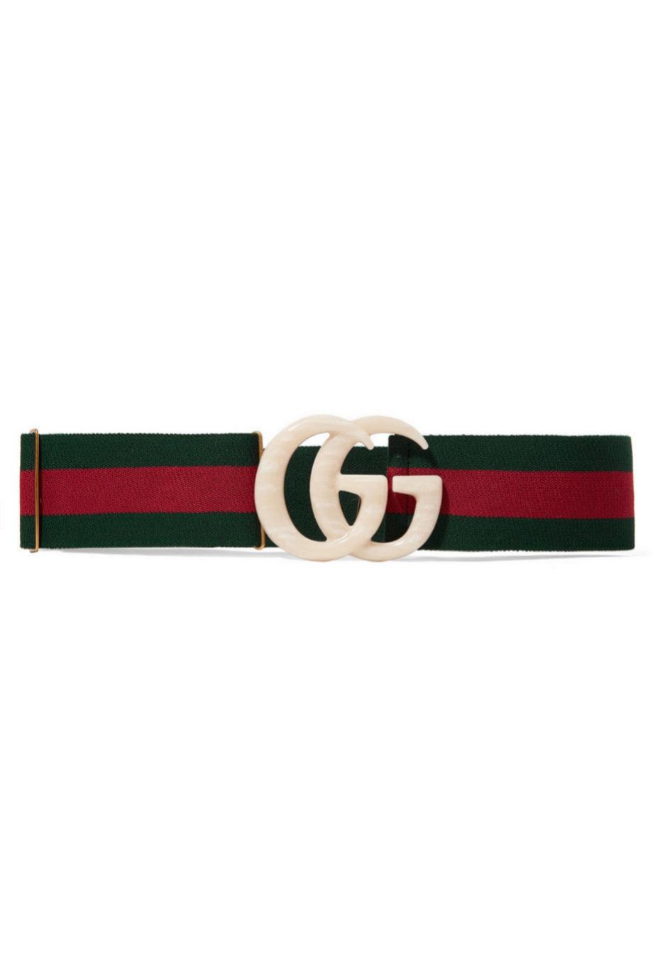 Cinturón de tela con hebilla de Gucci para Net a Porter