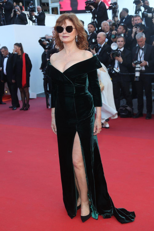 Susan Sarandon con el vestido de terciopelo de Alberta Ferretti de...