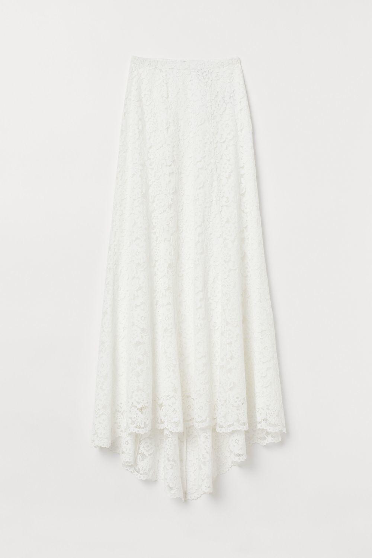 Falda larga de encaje. H&M. 79,99 euros