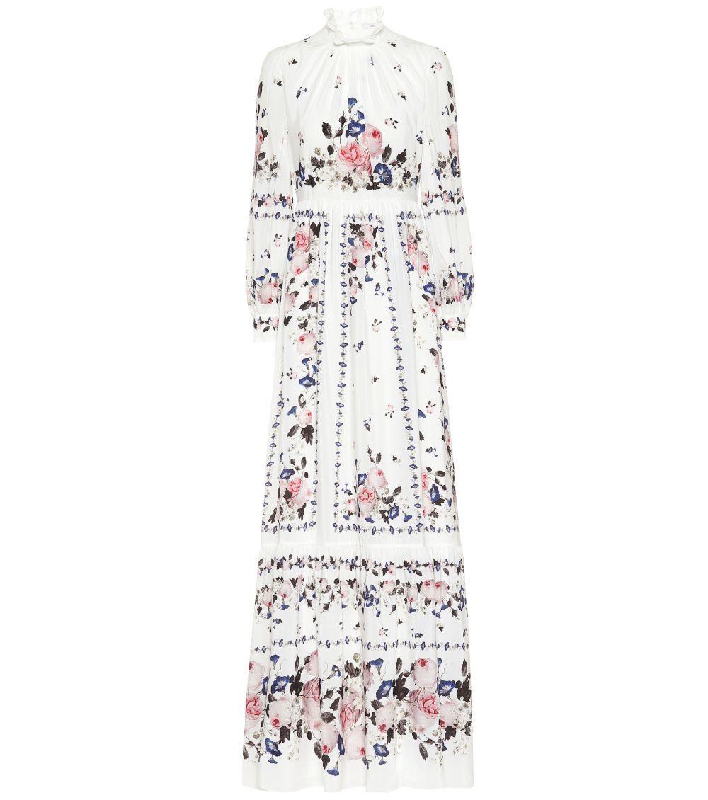 Vestido Clementine con un estampado floral. Erdem. 3.340 euros.