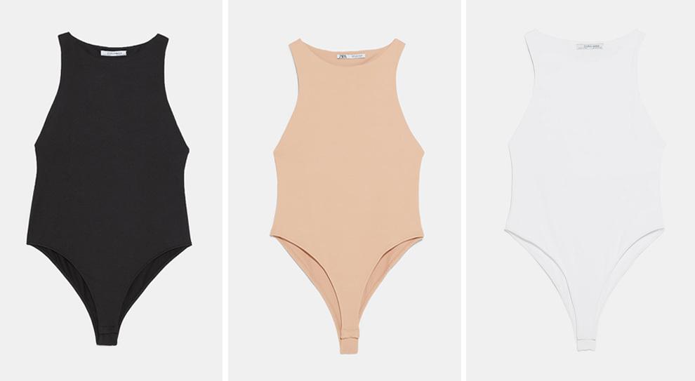 El body de Zara que lleva Rosie Huntington-Whiteley en tres colores.