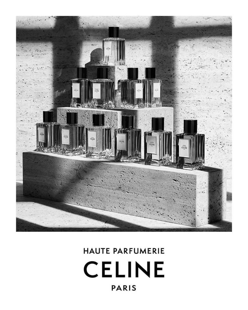 Detalle de la campaña de las nuevas fragancias de Céline.