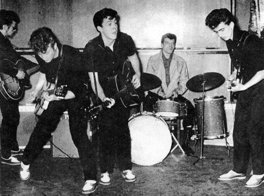 Uno de los primeros conciertos de los Beatles.