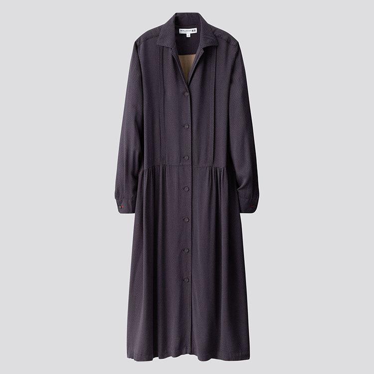 Vestido camisero de Uniqlo x Ines de la Fressange