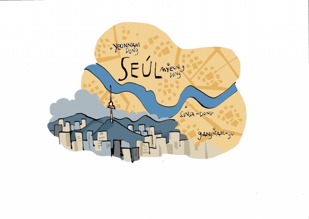 Mapa de Seúl.