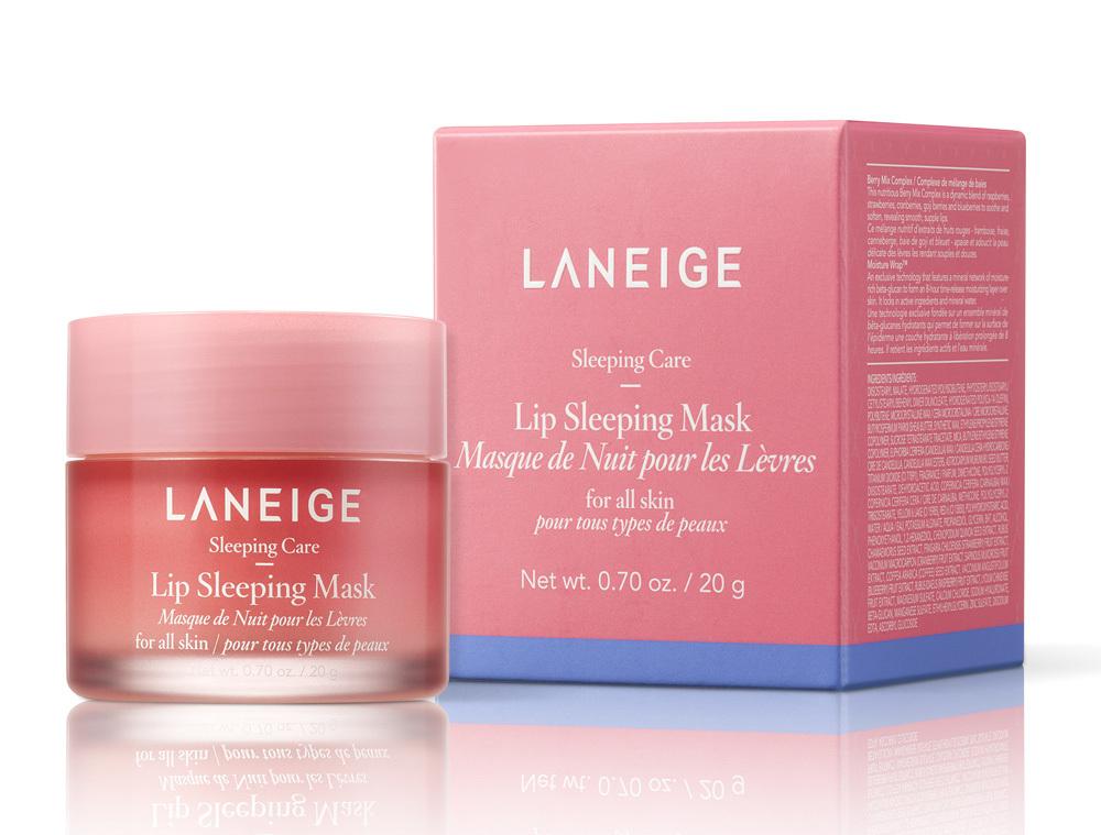 Mascarilla de noche para labios Lip Sleeping Mask de Laneige.