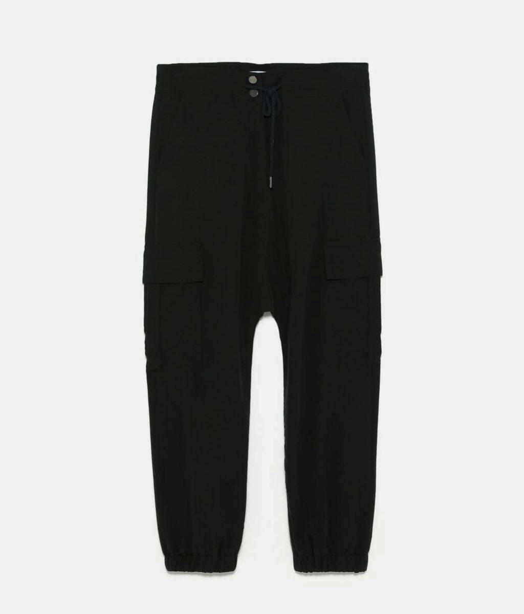 Pantalón cargo negro