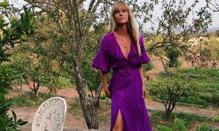 Jeanette Madsen con un vestido que usaríamos para ir invitada
