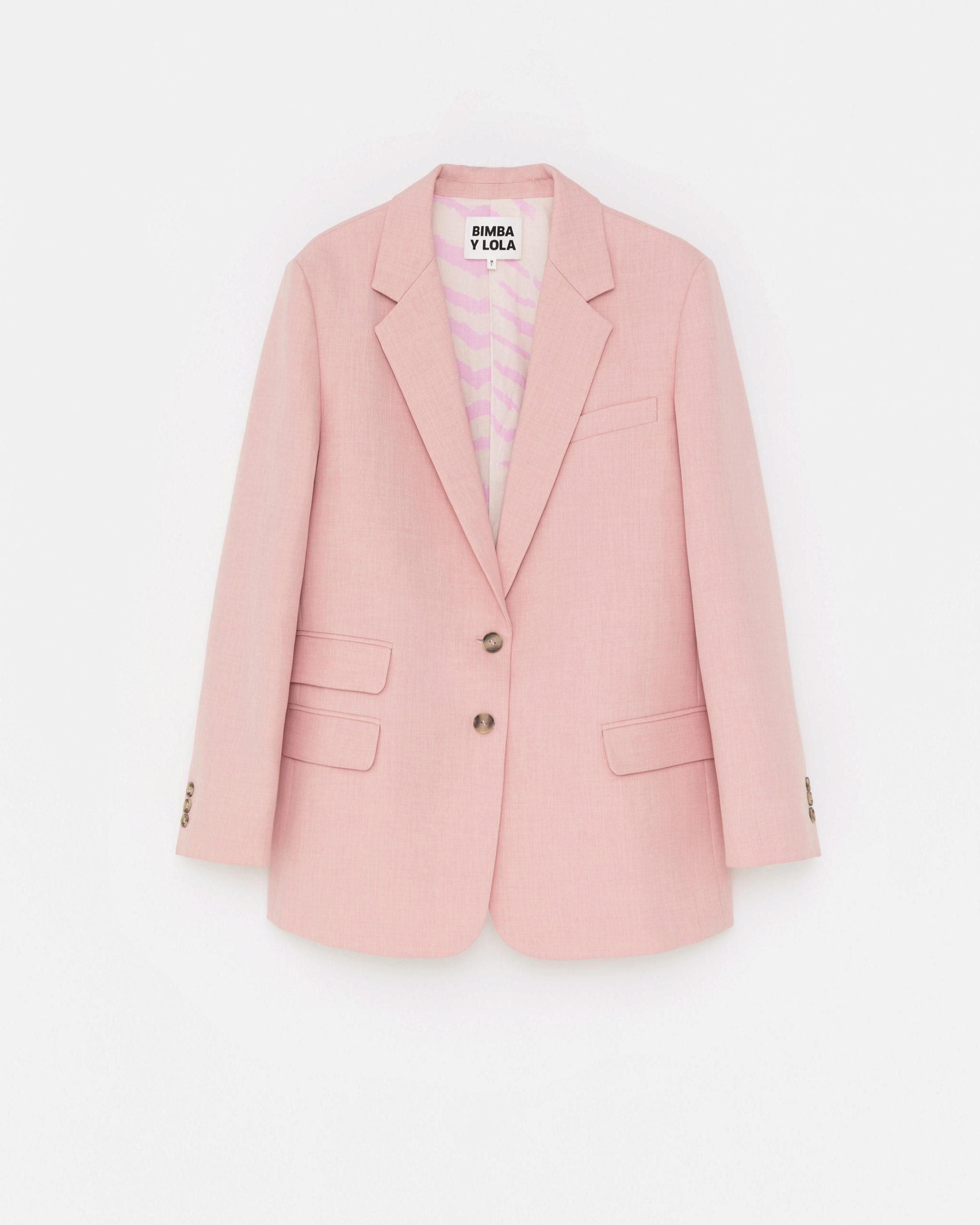 Blazer en color rosa palo de Bimba & Lola
