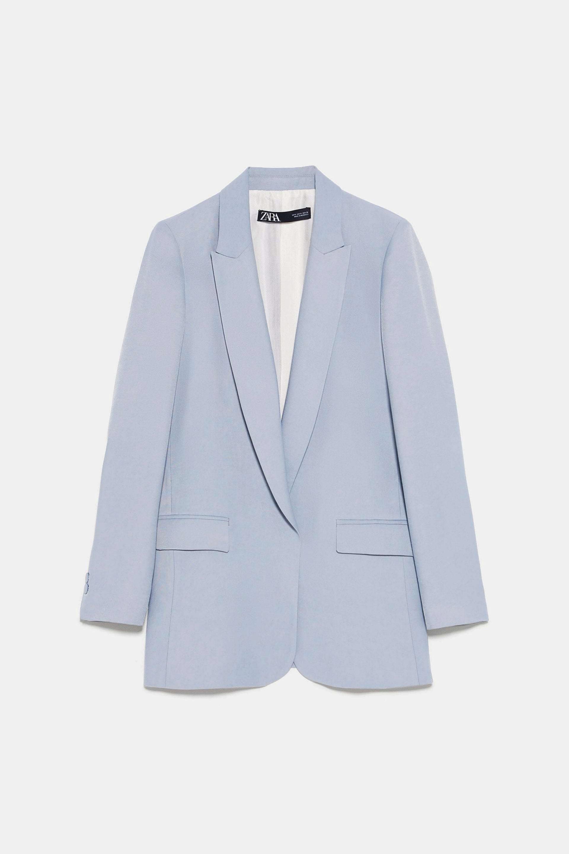 Blazer en azul lavado de Zara