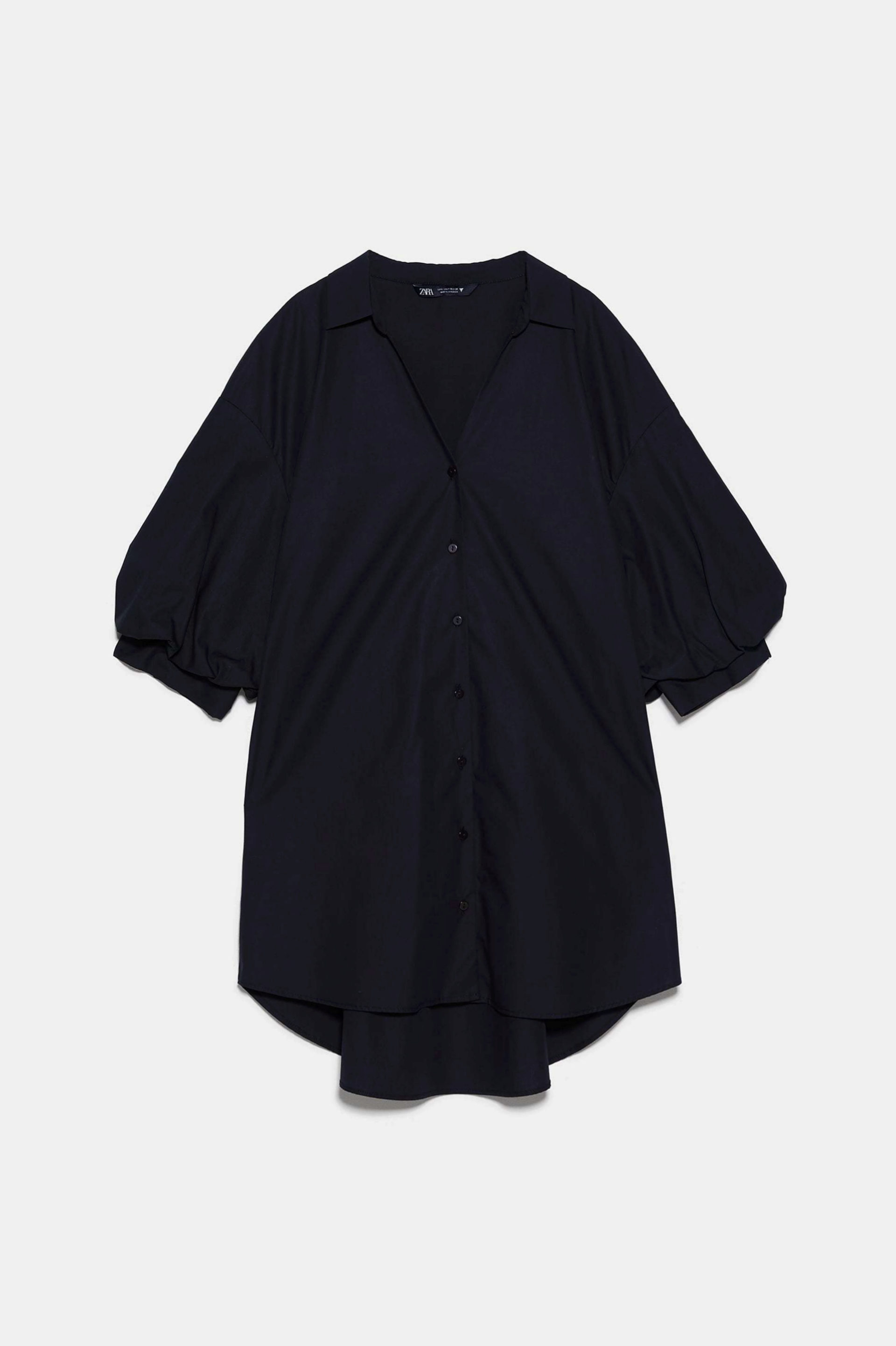 Camisa XL de popelín de Zara