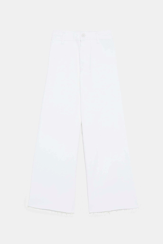 Tejano de tiro alto y corte culotte de Zara
