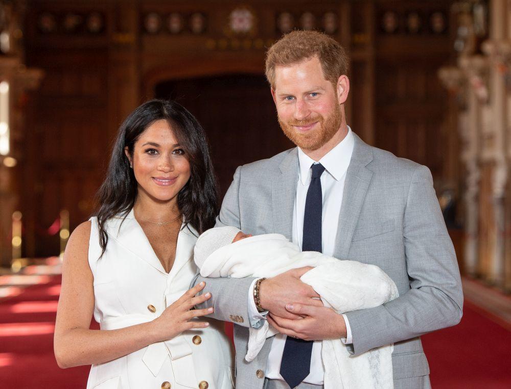 Los Duques de Sussex con su hijo, Archie.