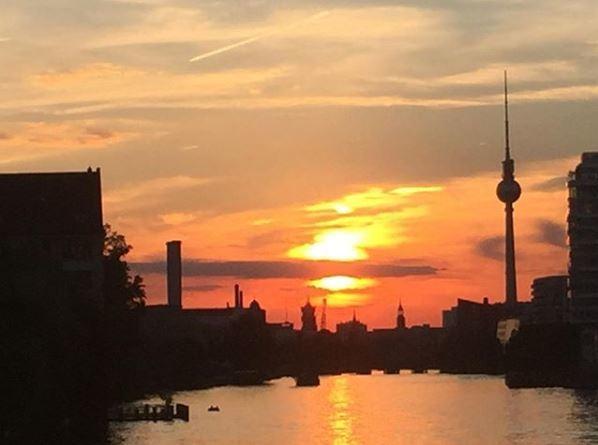 Puesta de sol en Berlín