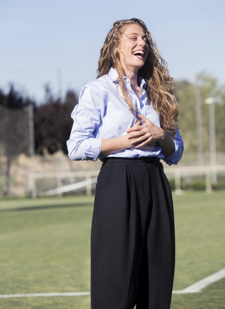 La jugadora de fútbol e Ingeniera Aeronáutica en la Ciudad del...