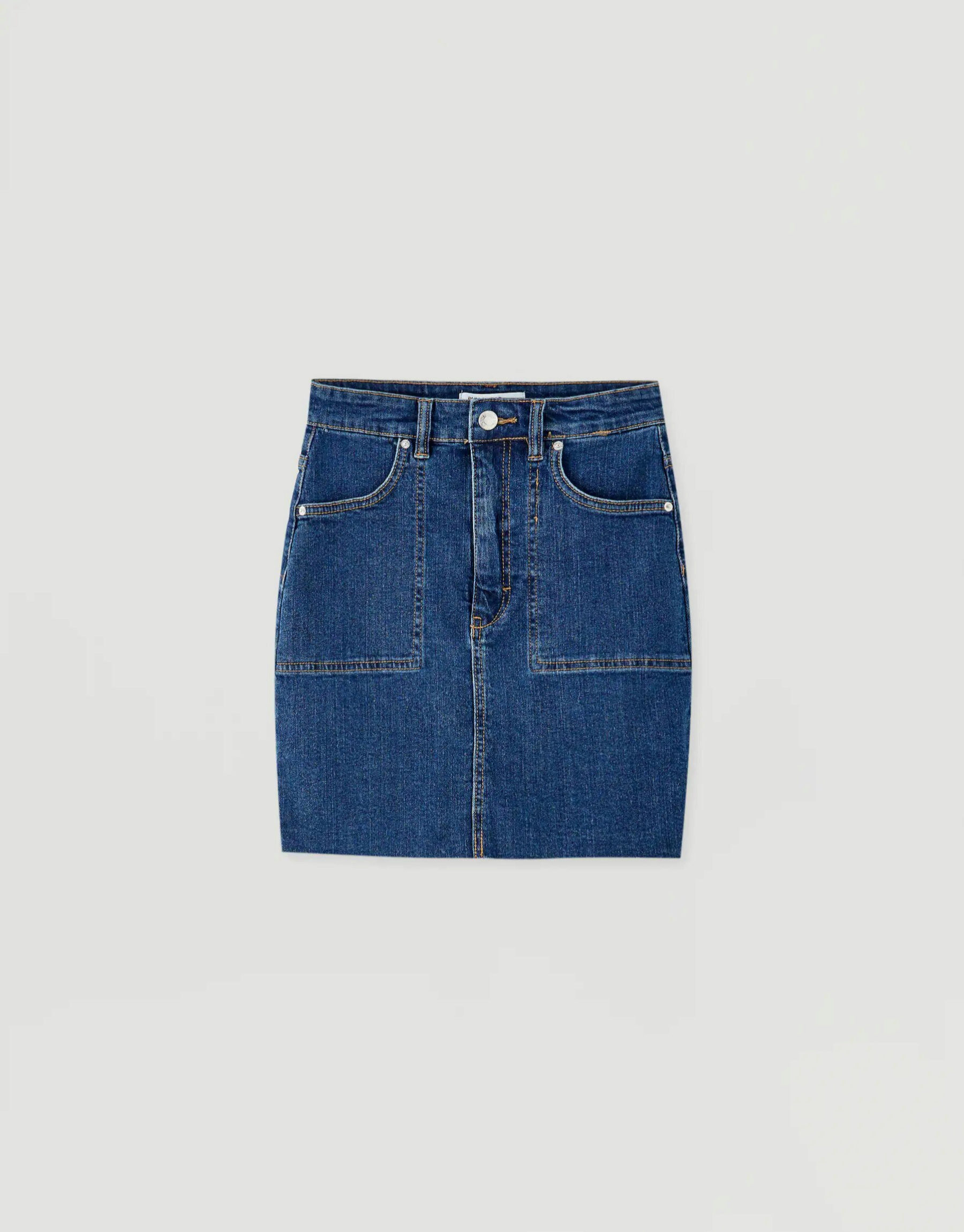 Mini falda denim de Pull & Bear