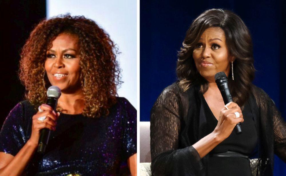 Michelle Obama sorprende con su melena rizada.