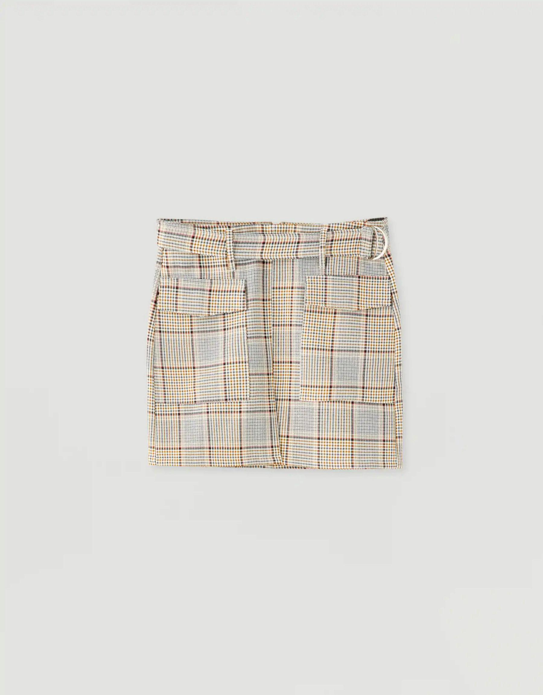 Mini falda de cuadros de Pull & Bear