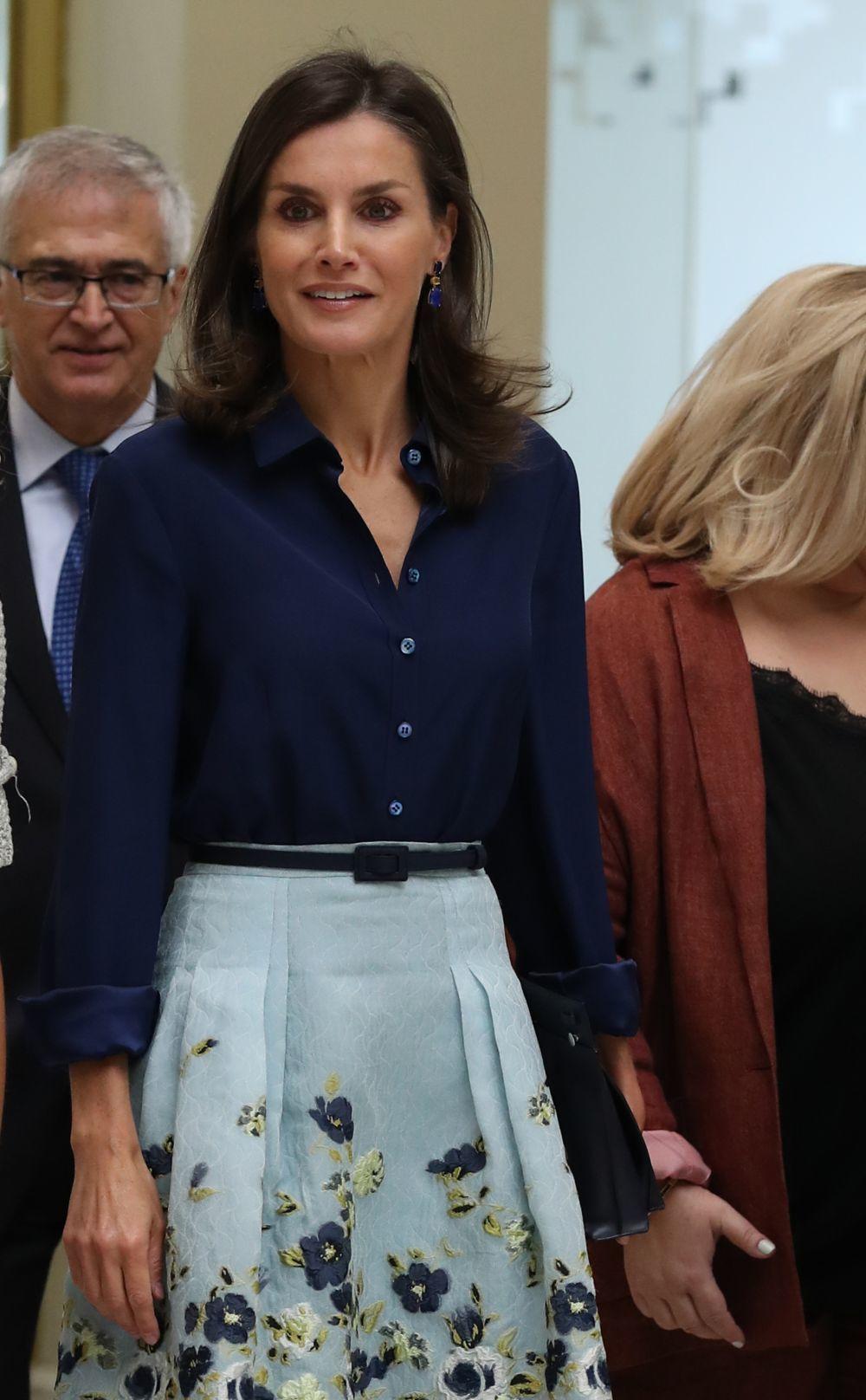 La reina Letizia con un look de Carolina Herrera.