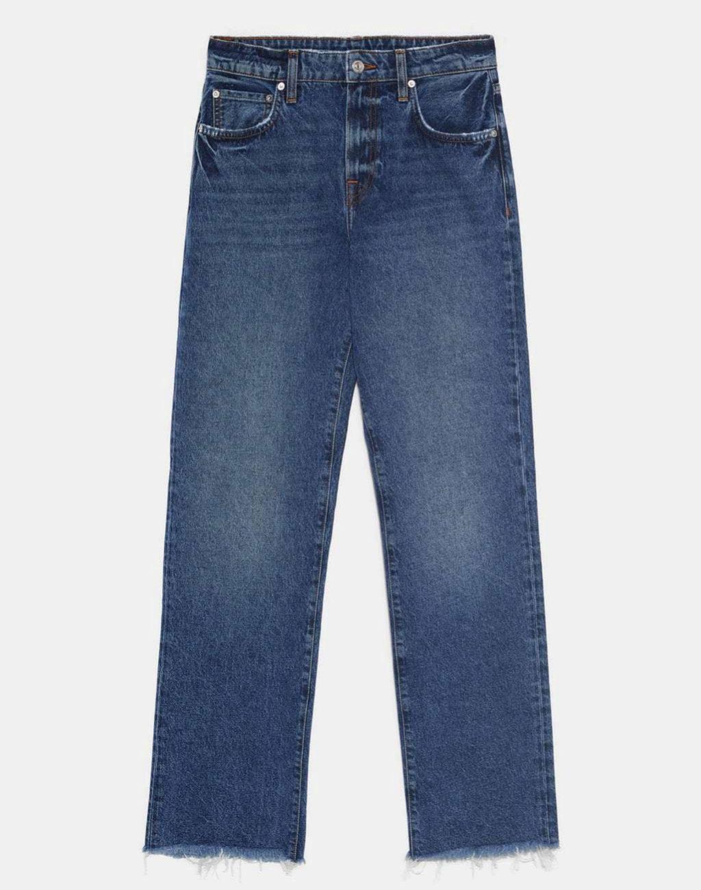 Pantalón recto de cintura alta