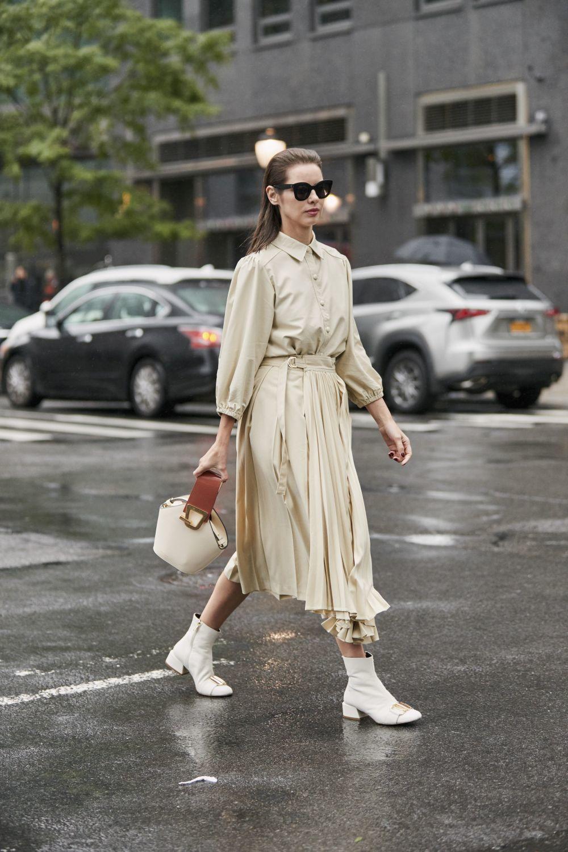 Una asistente a la última semana de la moda de Nueva York