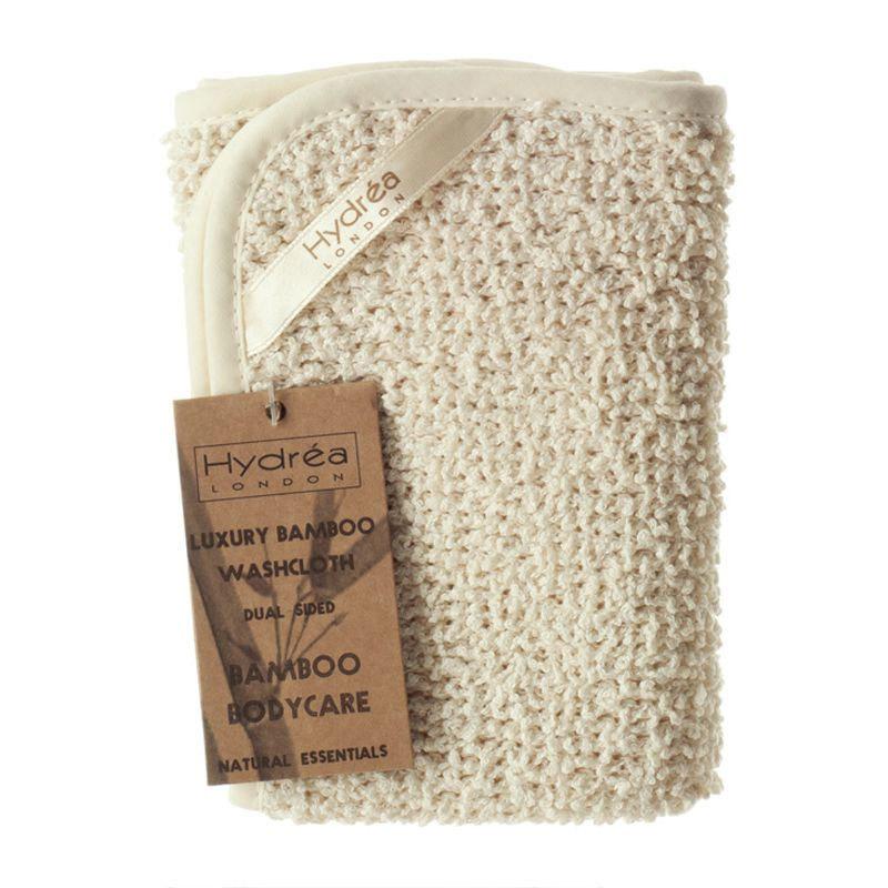 Toalla limpiadora y exfoliante de bambú y algodón (6,75 euros). De venta en madeintribe.com.