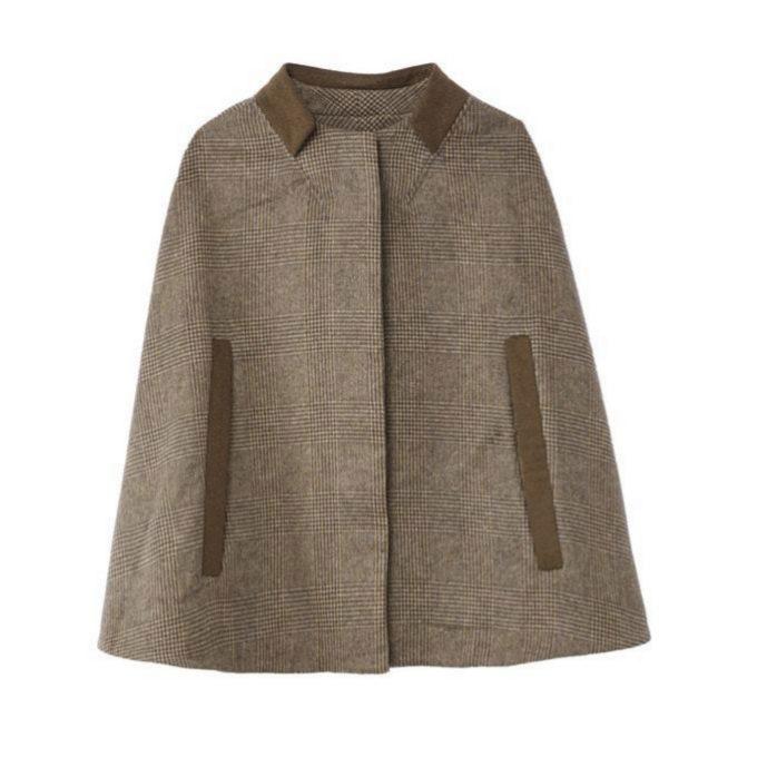 Capa de lana de corte clásico de La Redoute