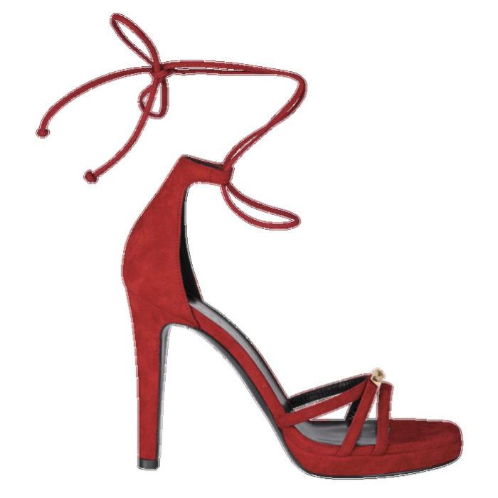 Sandalias de tacón anudadas al tobillo de Longchamp (390¤)